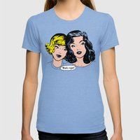Gossip Womens Fitted Tee Tri-Blue SMALL