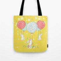 flying bunny Tote Bag