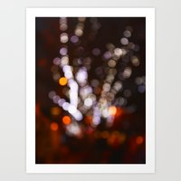 Tree Bokeh Art Print