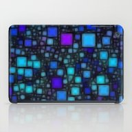 iPad Case featuring Post It Blue Glow by Alice Gosling