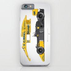 Outline Series N.º5, Ayrton Senna, Lotus 99T-Honda, 1987 iPhone 6 Slim Case