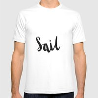 Sail Mens Fitted Tee White SMALL