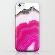 Pink Agate Slice iPhone 5c Slim Case