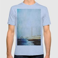 On The Front Textured Fine Art Photograpy Mens Fitted Tee Athletic Blue SMALL
