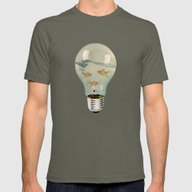 Ideas And Goldfish 03 Mens Fitted Tee Lieutenant SMALL