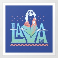 One Lava Art Print