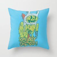 Zombie Finn Throw Pillow