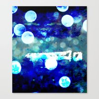 Match Stick In H2o Canvas Print