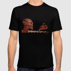 The Talk Black Mens Fitted Tee SMALL