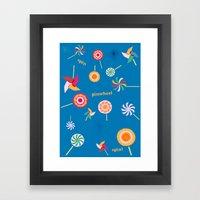 Spin! Pinwheel Spin! Framed Art Print