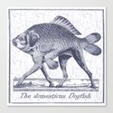IF FISHES HAD LEGS (navy) Canvas Print
