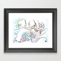Deer Odd Framed Art Print