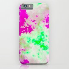 Pink Green and yellow clouds Slim Case iPhone 6s