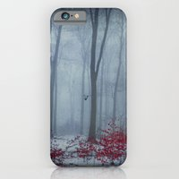 Winter Forest in Red and Blue iPhone 6 Slim Case
