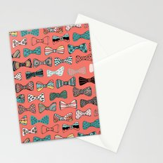 Bow tie geek in pink Stationery Cards