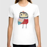 Sweet Owl Womens Fitted Tee White SMALL