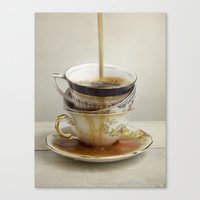 Tea Spill Canvas Print