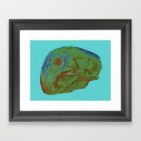 Agate Topography (second… Framed Art Print