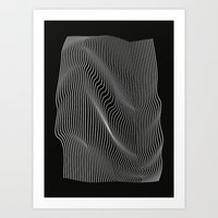 Minimal Curves Black Art Print
