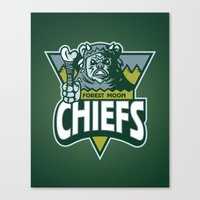Forest Moon Chiefs - Green Canvas Print