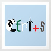 Ctrl + S Art Print