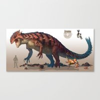 Pokemon-Groudon Canvas Print
