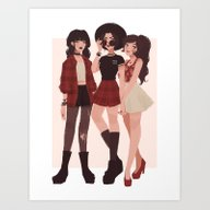 Art Print featuring Ozai's Angels by Punziella