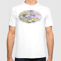 Reflection, Watercolor Mens Fitted Tee White SMALL