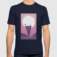 Another Full Moon Mens Fitted Tee Navy SMALL