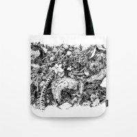 Inky Undergrowth Tote Bag
