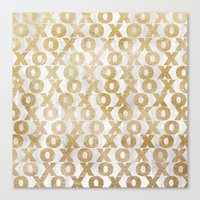 Xoxo Gold Canvas Print