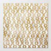 Xoxo Gold Canvas Print