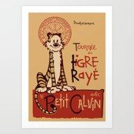 Le Tigre Rayé Art Print