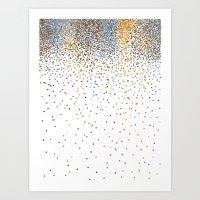 Falling Stones Art Print