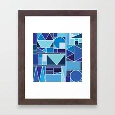 Kaku Blue Framed Art Print