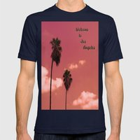 Welcome to Los Angeles Mens Fitted Tee Navy SMALL
