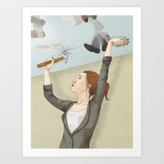 The Glass Ceiling Art Print