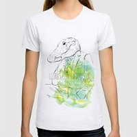 Lloras con lágrimas de cocodrilo (you cry with cocodrile tears) Womens Fitted Tee Ash Grey SMALL