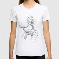 The Land Meets The Sea Womens Fitted Tee Ash Grey SMALL