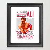 Muhammad Ali - G.O.A.T. Framed Art Print