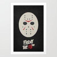 Friday the 13th - Minimalist Poster 01 Art Print