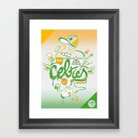 CELTICS Framed Art Print