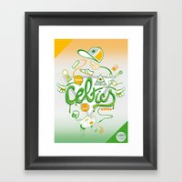 CELTICS Framed Art Print