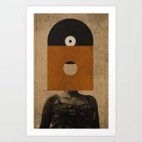 VINYL RECORD HEAD Art Print