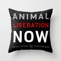 Liberation Now Throw Pillow