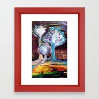 Night Is A World Lit By Itself Framed Art Print