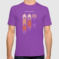 Know Your Meat Mens Fitted Tee Ultraviolet SMALL