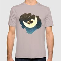 Sleeping Panda On The Mo… Mens Fitted Tee Cinder SMALL