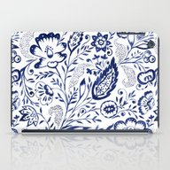 Folk Floral Indigo iPad Case