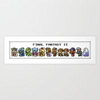 Final Fantasy II Charact… Art Print